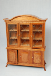 204. Leaded China Cabinet, Three-Door